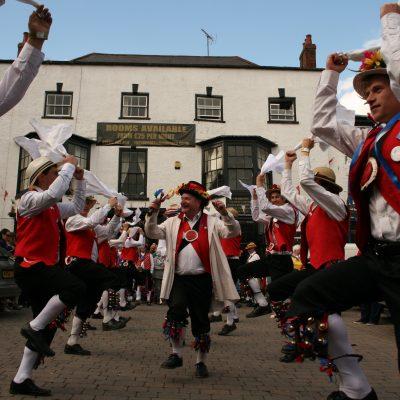 Bristol Morris dancing in the town square by Meg Hanlon