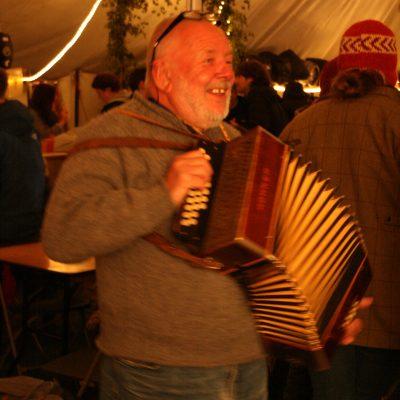 John Price having a squeeze in the Dave Jones bar by Meg Hanlon