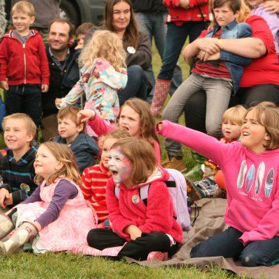 Audience enjoying Piggery Jokery by Meg Hanlon