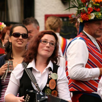 Shakespeare Morris dancing in the town square by Meg Hanlon