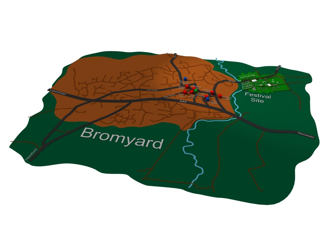 Bromyard Town map