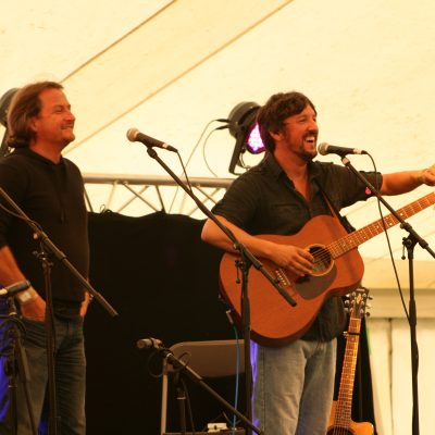 Barlow Cree performing on the Wye Valley Brewery stage by Meg Hanlon