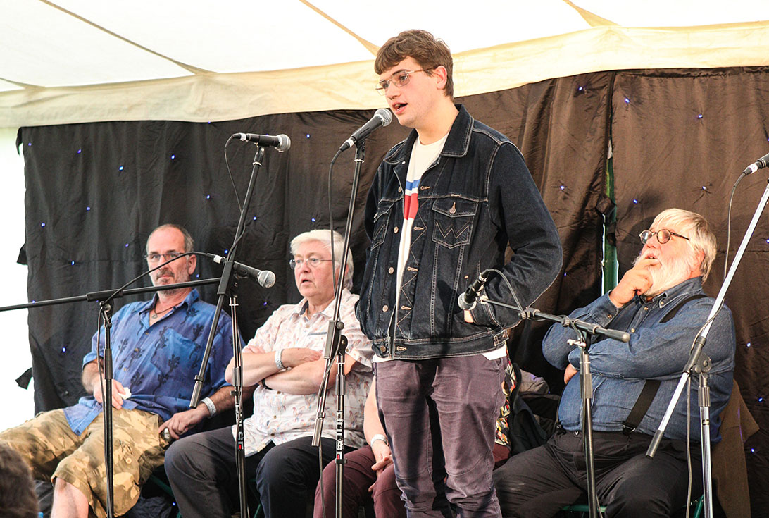 Winner of Bromyard Folk Festival Future of Young Folk Award 2019 Sam Baxter