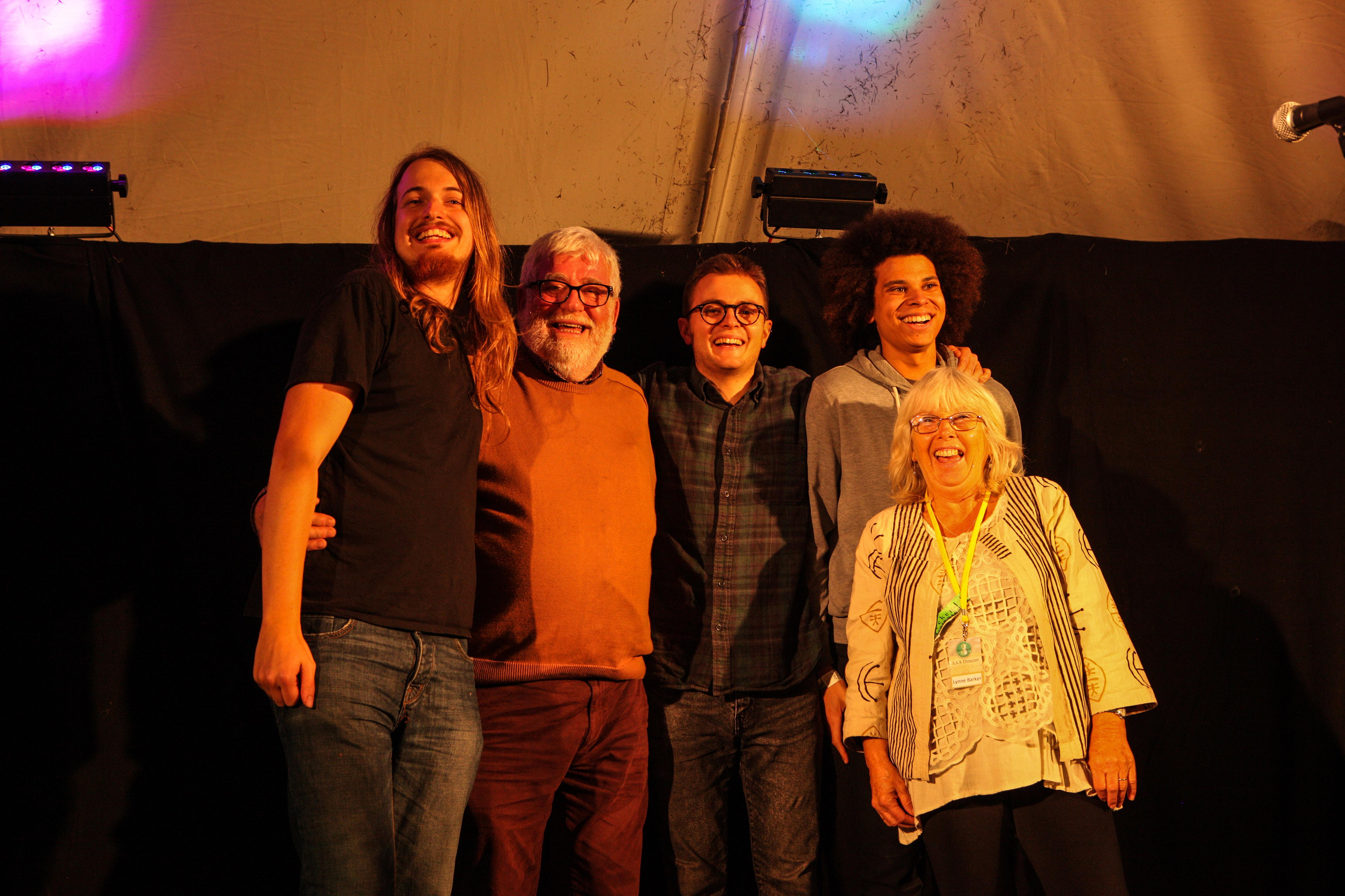 Lewis Wood, Dick Dixon (BFF), George Sansome, Cohen Braithwaite-Kilcoyne and Lynne Barker (BFF)