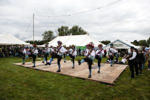 Earlsdon Morris dancing at Bromyard Folk Festival photo by Malcolm Locker